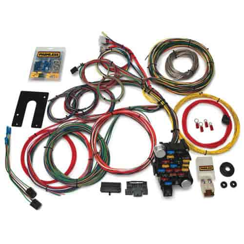 painless 10201 universal 28 circuit classic plus chassis harness rh jegs com Painless Wiring Installation Manual Painless Wiring for Old Cars and Trucks