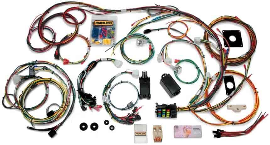 Painless 20120: 22-Circuit Wire Harness | 1965, 1966 Ford Mustang | Direct  Fit | JEGSJegs