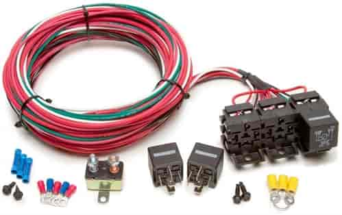 Painless Performance 30107: 3-Pack Relay Bank Kit | JEGS on 40 amp electrical panels, 40 amp electric wire, circuit breaker panel wiring,