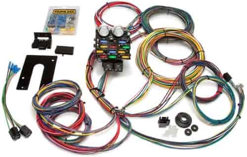 764 50002 painless performance products 50002 21 circuit pro street wiring wiring harness for cars at gsmx.co