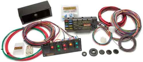 painless 50005 10 circuit race wire harness panel kit [with 6