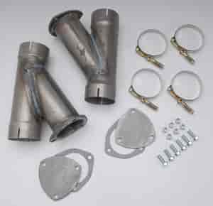 776 H1132 doug's headers h1132 y pipe exhaust cut outs 3\