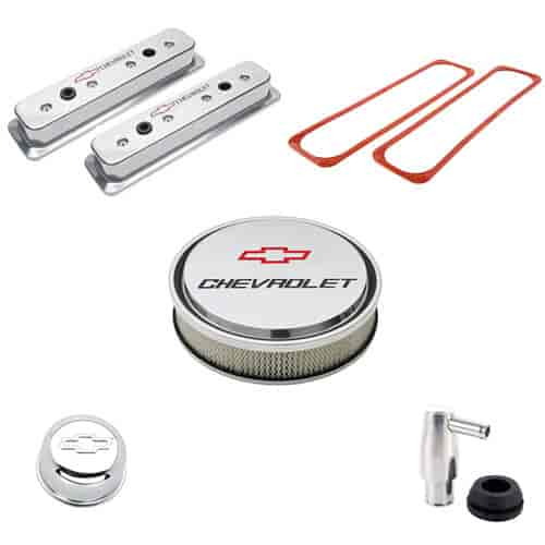 Proform Die-Cast Aluminum Center Bolt Valve Cover Kit for 1987-Up Small  Block Chevy in Polished Finish