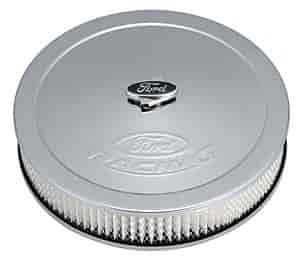 "Proform 302-383 Slant Edge Ford Racing 13/"" Air Cleaner Polished Recessed Logo"