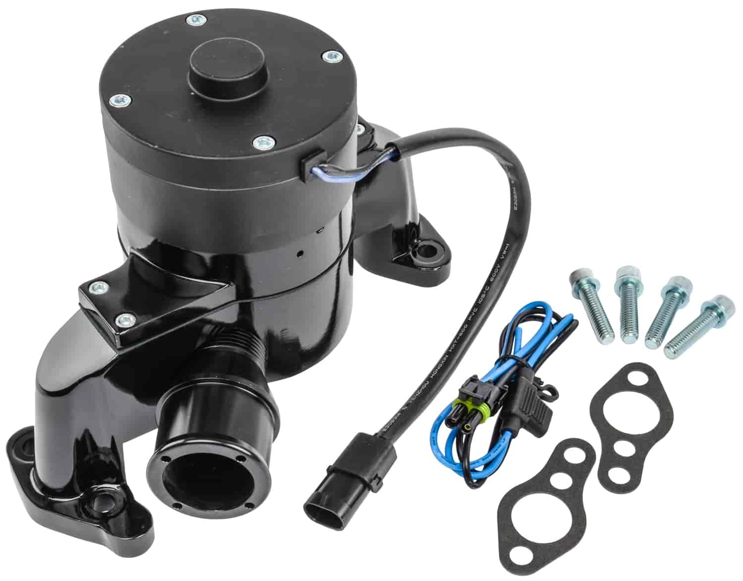 Proform 66225bk Electric Water Pump Sbc In Black Epoxy Powder 1966 Chevy Nova Which Froze With An Alternatorwiring