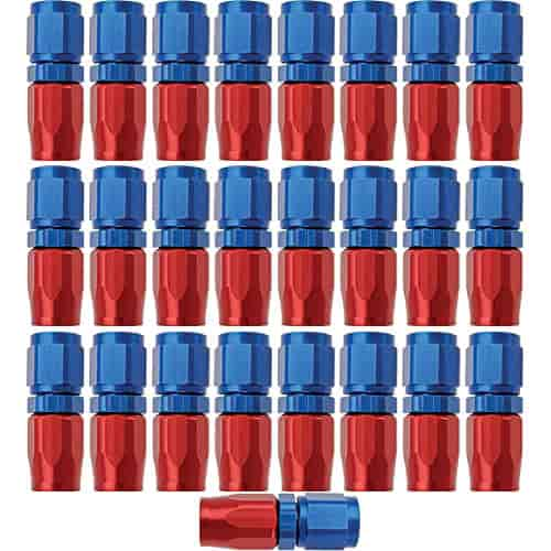 Russell 610018 - Russell AN Hose End Fittings - Red/Blue