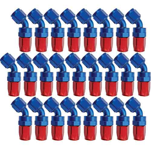 Russell 610108 - Russell AN Hose End Fittings - Red/Blue