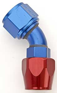 Russell 610120 - Russell AN Hose End Fittings - Red/Blue