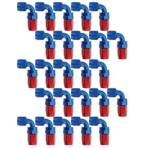 Russell 610168 - Russell AN Hose End Fittings - Red/Blue