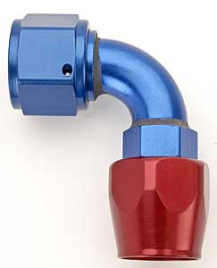 Russell 610190 - Russell AN Hose End Fittings - Red/Blue