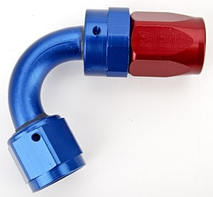 Russell 613410 - Russell AN Hose End Fittings - Red/Blue