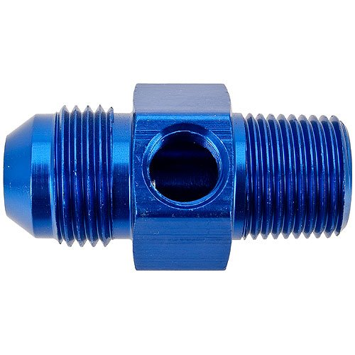 Russell 670060 - Russell AN Male to NPT Male Adapter Fittings with Pressure Gauge Port