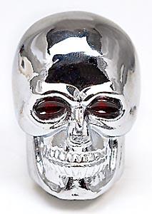 Gasket 9628 Chrome-Plated Skull Shifter Knob Mr