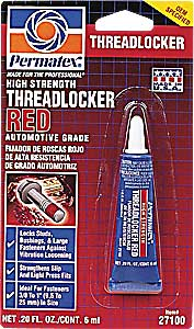 Adhesives, Sealants & Tapes Business & Industrial Permatex 27100 High Strength Threadlocker Thread Lock Red 6ml Online Discount