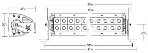 rigid industries 12731  28 u0026quot  e2 led light bar specter