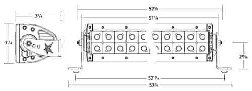 rigid industries 15231  50 u0026quot  e2 led light bar specter