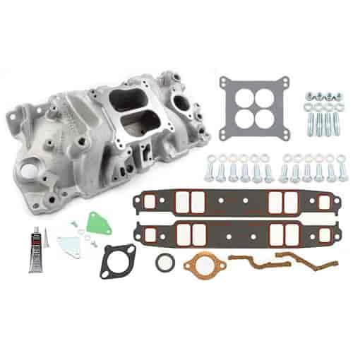 Chevrolet Performance Aluminum Intake Manifold Kit ZZ 350 HO & Small Block  Chevy through 1986 Includes: