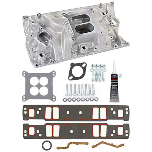 Chevy 12366573K: Aluminum Intake Manifold Kit Chevy 283