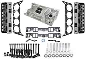 Chevrolet Performance 12558060K1 - Chevrolet Performance Small Block Chevy Cast Iron Vortec Cylinder Heads