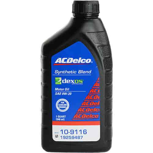 Chevy 19259487 Ac Delco Semi Synthetic Motor Oil 0w 20