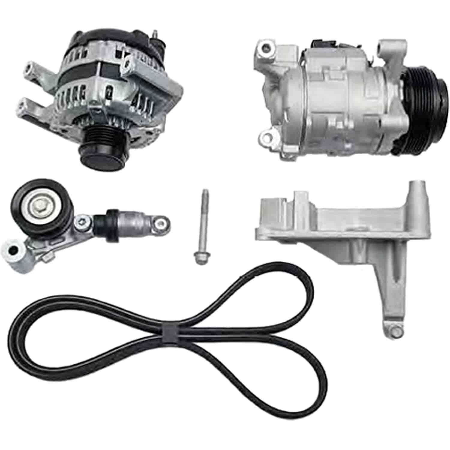 Chevy 19329990 Lt1 Alternator A C Compressor Mounting Kit Jegs Gm Wiring Chevrolet Performance