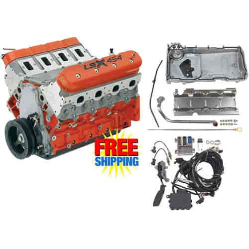 Chevy 19355573k4 Lsx454 454ci Engine Kit With Muscle Car Oil Pan