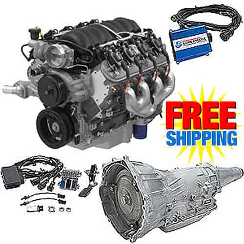 Chevrolet Performance CPSLS34L70E2 - Chevrolet Performance LS376/525 LS3 6.2L 525HP Connect & Cruise Automatic Transmission Powertrain System