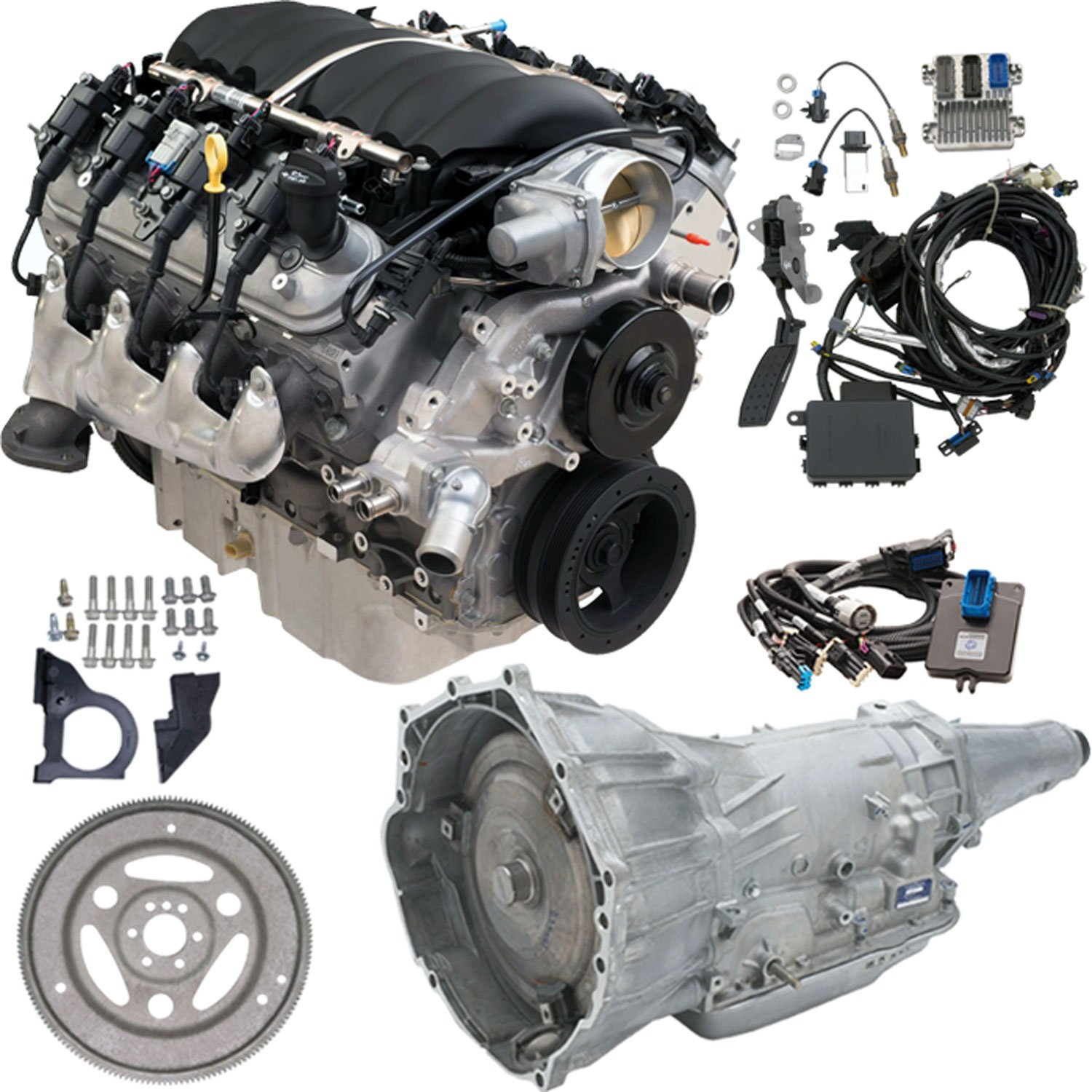 Chevrolet Performance CPSLS34L65E - Chevrolet Performance LS3 6.2L/430HP Gen IV Crate Powertrain
