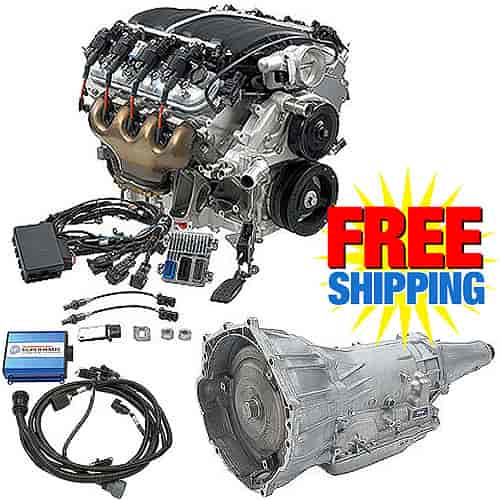Chevrolet Performance CPSLS74L70E - Chevrolet Performance LS7 7.0L 505HP Connect & Cruise Automatic Transmission Powertrain System