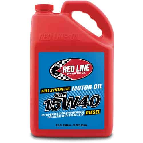 red line oil 21405 synthetic diesel motor oil 15w40 1