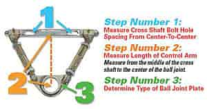 SPC Adjustable Upper Control Arm Cross Shaft Length: 6-15/16