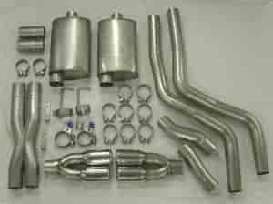 Stainless Works HM61CB-C - Stainless Works Cat-Back Exhaust Systems