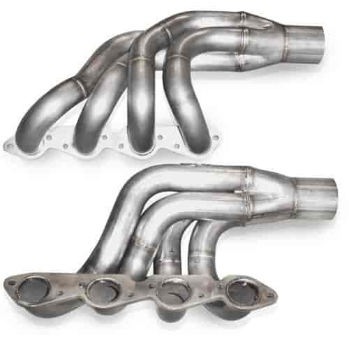 Stainless Works BBCT: Up & Forward Turbo Headers BBC
