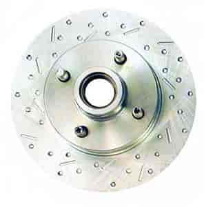 Stainless Steel Brakes 23023AA3L - Stainless Steel Brakes Big Bite Cross-Drilled and Slotted Rotors