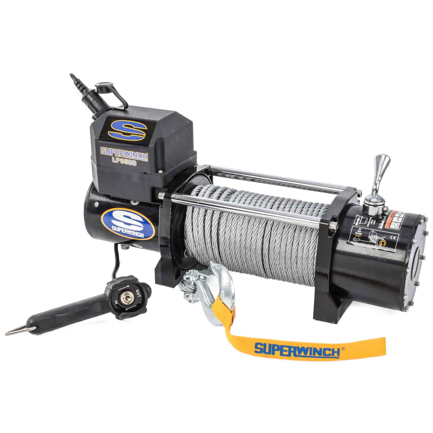 superwinch 1585202 lp8500 winch rated line pull 8 500 lbs jegs Superwinch Wiring-Diagram superwinch 1585202