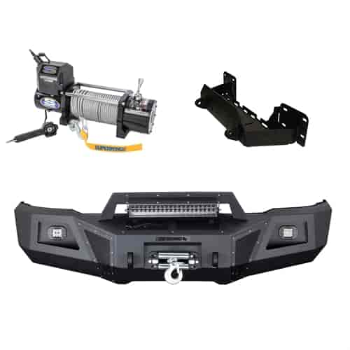 superwinch 1585202k3 lp8500 winch and bumper kit for 2015 2017 Superwinch Winch Plate superwinch 1585202k3