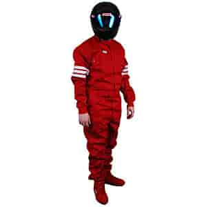 Simpson 0403411 - Simpson Classic 3-Stripe SFI-5 One-Piece Driving Suits