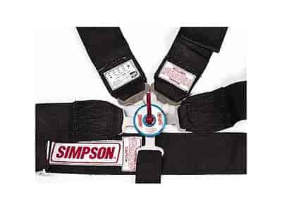 Simpson 29116BK: Lever Camlock 5-Point Dragster Harness Nomex ...