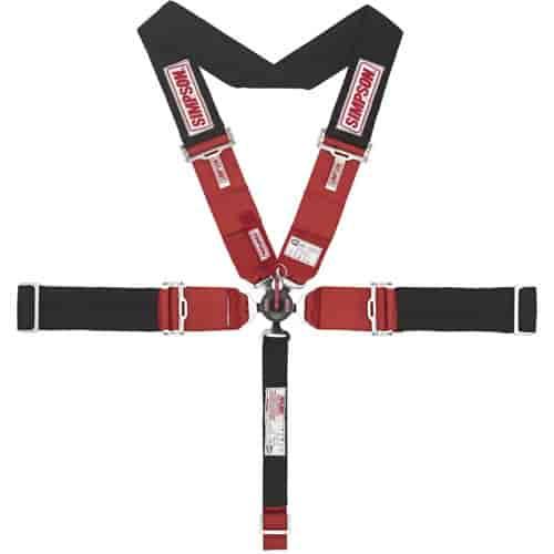 Simpson 29110BK Lever Camlock 5-Point Individual Harness 55/'/' Lap Belt Black