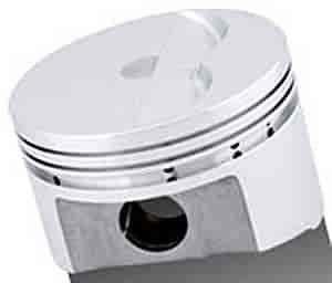 SRP 138095-1 - SRP Small Block Chevy Flat Top Forged Pistons