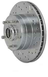 Stainless Steel Brakes 23001AA3L - Stainless Steel Brakes Big Bite Cross-Drilled and Slotted Rotors