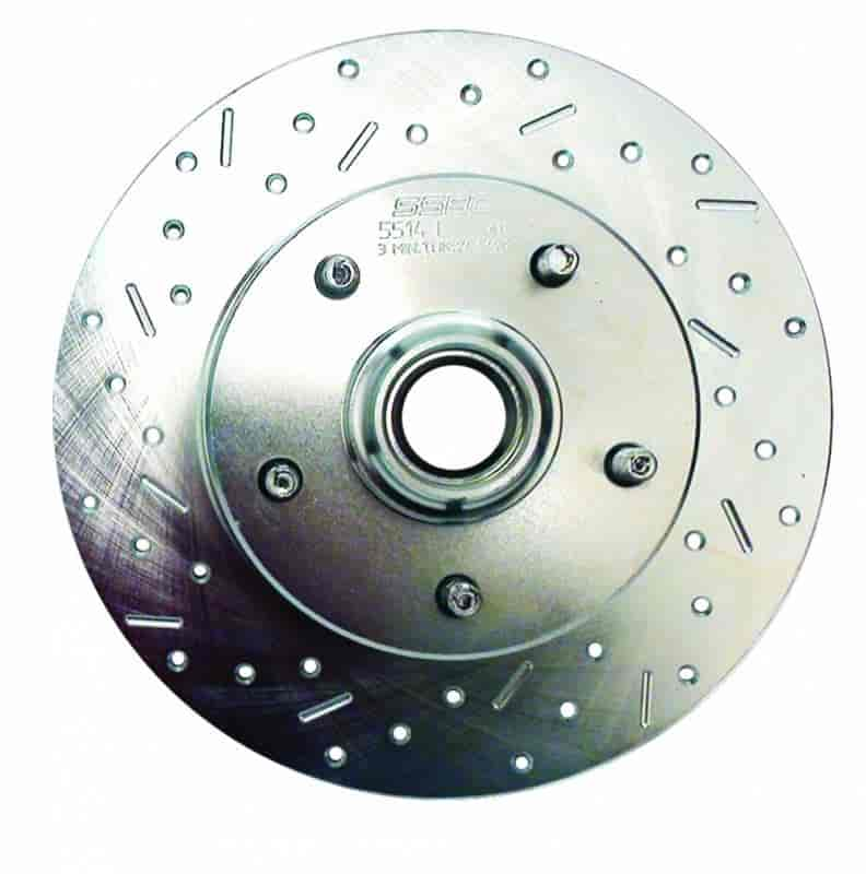 Stainless Steel Brakes 23462AA3R - Stainless Steel Brakes Big Bite Cross-Drilled and Slotted Rotors