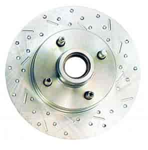 Stainless Steel Brakes 23023AA3R - Stainless Steel Brakes Big Bite Cross-Drilled and Slotted Rotors