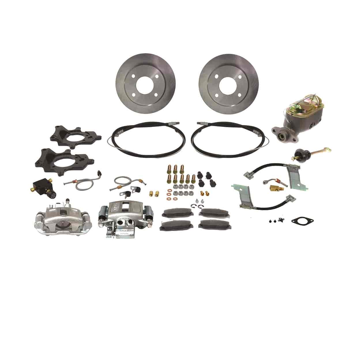 Stainless Steel Brakes A112-1 - Stainless Steel Brakes Single Piston Rear Drum to Disc Brake Conversion Kits