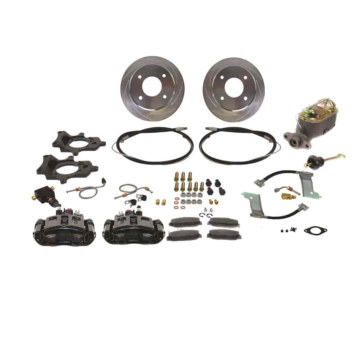 Stainless Steel Brakes A112-1BK - Stainless Steel Brakes Single Piston Rear Drum to Disc Brake Conversion Kits