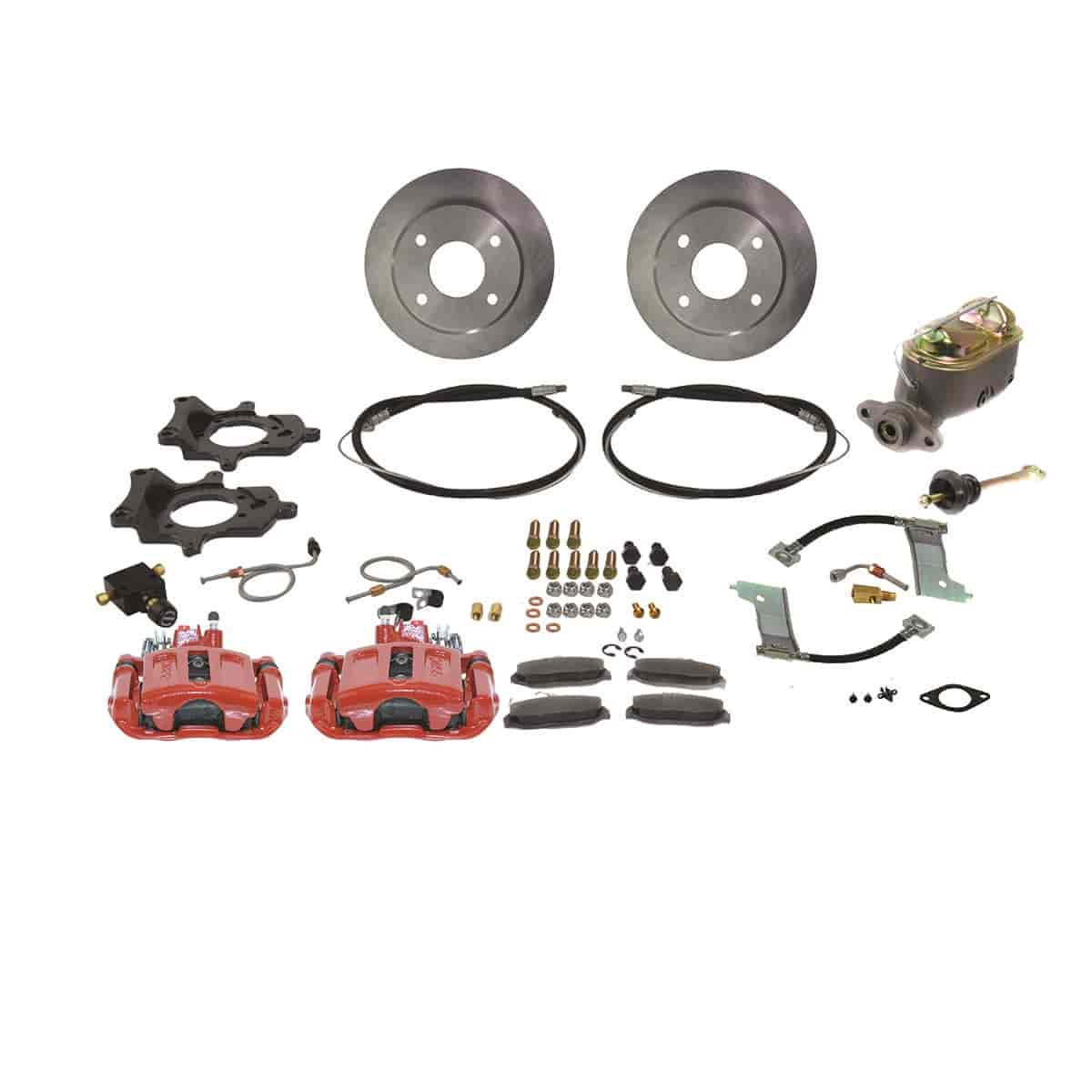 Stainless Steel Brakes A112-1R - Stainless Steel Brakes Single Piston Rear Drum to Disc Brake Conversion Kits