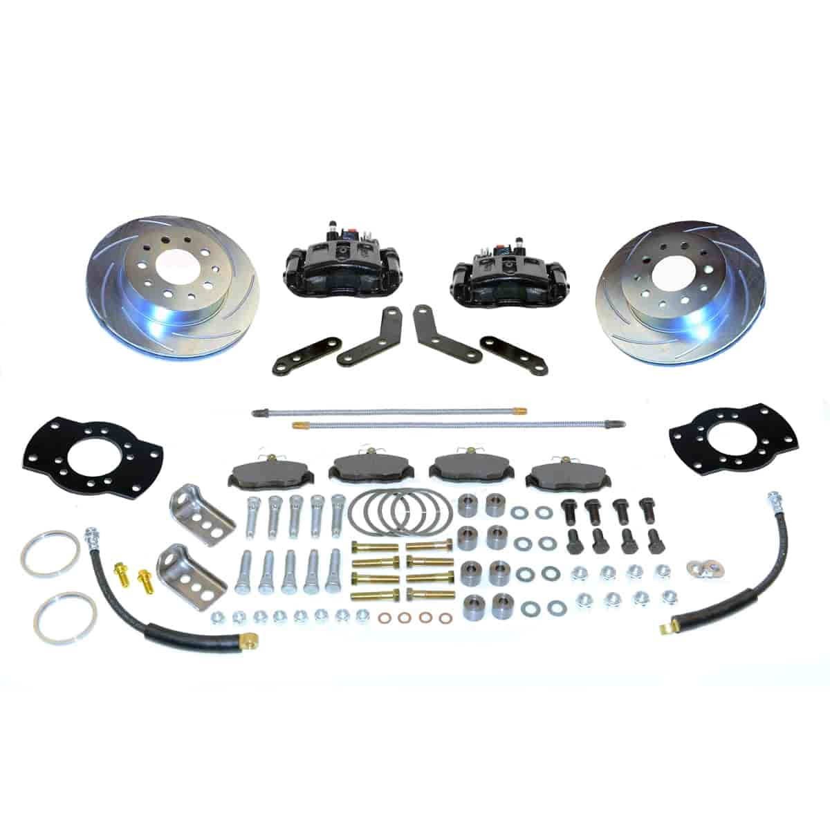 SSBC A117BK - Stainless Steel Brakes Single Piston Rear Drum to Disc Brake Conversion Kits