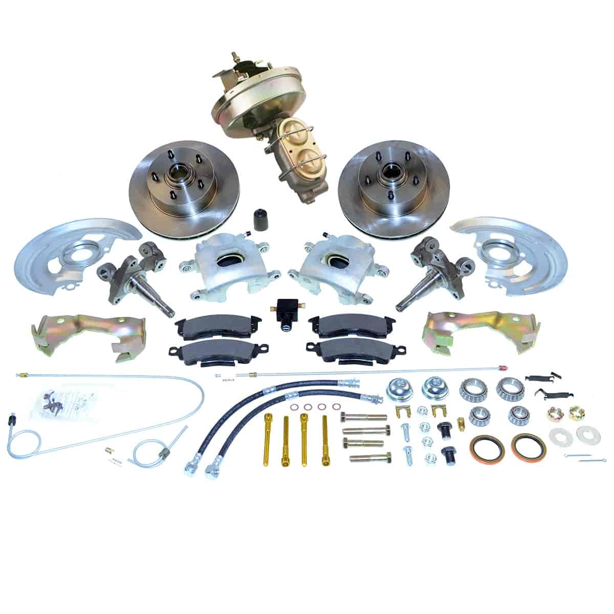 Stainless Steel Brakes A123-1 - Stainless Steel Brakes Single Piston Front Drum-to-Disc Brake Conversion Kit