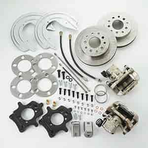 Stainless Steel Brakes A124BK - Stainless Steel Brakes Single Piston Rear Drum to Disc Brake Conversion Kits