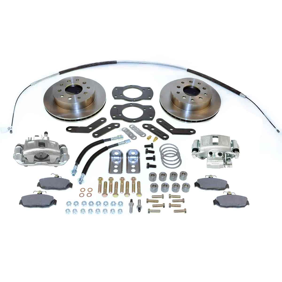 SSBC A125-2 - Stainless Steel Brakes Single Piston Rear Disc Brake Conversion Kit